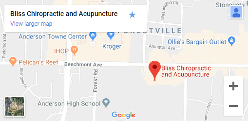 Map of Anderson OH Chiropractors
